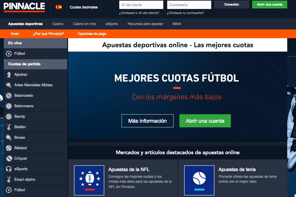 sitio web de pinnacle sports