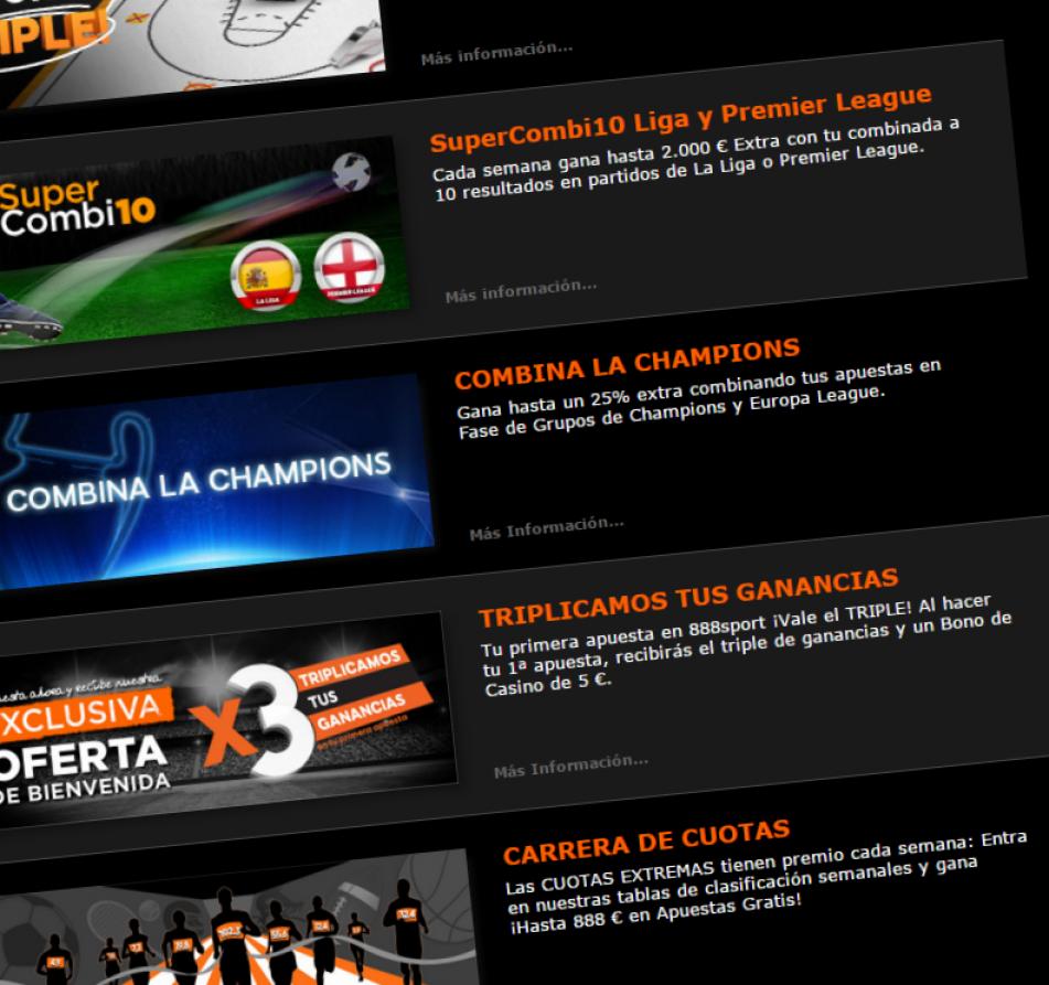 promociones 888sport